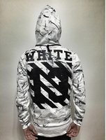 animal graphics - 2016 off white hoodie women graphic hoodies Hip Hop Men Hoodies Clothes Skateboard Walking Hoodie couples clothings