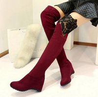 aa body - Autumn and Winter boots sexy body repair Overknee Boots warm shoes lace boots