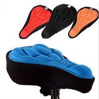 Moutain / carretera cubierta de la silla de montar en bicicleta respirable libremente ciclo de la bici del gel de silicona del cojín amortiguador cómodo suave de la cubierta de asiento de la bicicleta de 4 colores