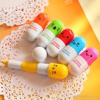 best retractable pens - Pill Shape Retractable Ball Point Pen Novelty Vitamin ballpoint pens Creative Stationery Best Children s Gifts Office supplies Hot Sale