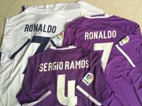 Wholesale 16 Ronaldo Soccer Jerseys Soccer Jersey Best Quality Bale Benzema Kroos Soccer Jersey Jerseys Sergio Ramos Varane James Football Jersey