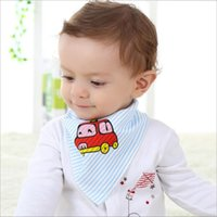 baby comfort feeding - Bibs for Babies Baby Embroidered Triangle Child Feeding Cloths In Natural Comfort Healty Cozy Cotton