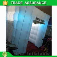 Wholesale ft square tent led portable photo booth for sale