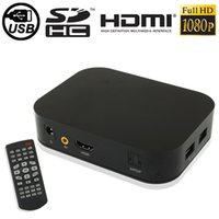 Wholesale P Full HD Media Player with Remote Control HDMI Interface Support SD Card USB Flash Disk