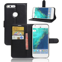 bags pixels - For Google Pixel XL inch Litchi Wallet Flip PU Leather Case Cover Bag With Card Slots Stand