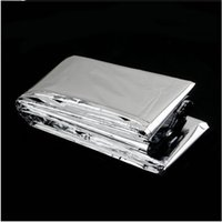 Wholesale hot sell Hot Portable Water Proof Emergency Survival Rescue Blanket Foil Thermal Space First Aid Sliver Rescue Curtain Outdoor