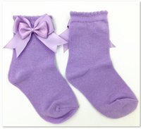 baby hair accessories uk - 6 colors UK With Shop New Arrival baby Girls Kids Socks Colorful Spring Summer Ankle Children Bow Socks Hair accessories