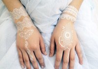 Wholesale Bride in white lace tattoos Temporary tattoos Stickers white black DIY Waterproof Body Art more styles cm WS