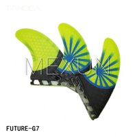 Wholesale 2016 Fashion style Future G7 surfboard fins with fiberglass bamboo material fot surfboard Tri set size L