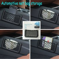 automotive tool storage - Car Net Bag Car Organizer Nets Automotive Pockets With Adhesive Visor Car Syling Bag Storage for tools Mobile phone