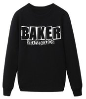 baker skateboards - Women men skateboard baker streetwear man hoodies new European Style sweatshirt sportswear moleton