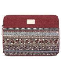 Wholesale BLOOMSTAR Bohemian Inch Canvas Protective Laptop Sleeve Bag Notebook Case Cover for MacBook Chromebook Acer Dell HP Samsung