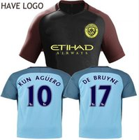 Wholesale best thai quality Manchester city soccer Jerseys Home away KUN AGUERO DE BRUYNE STERLING SILVA NOLITO STONES football shirt