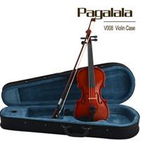 beginners bow - Violin Pagalala wooden violin White violin for beginner violino violine musical instrument Bow case rosin