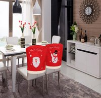Wholesale Cheapest Christmas Chair Cover Fashionable Santa Claus Chair Cover As The Picture