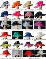 ascot hat - MIX COLOR MIX STYLE organza hat bridal hat for Kentucky Derby wedding ascot races melbourne cup party brim width in cm cm