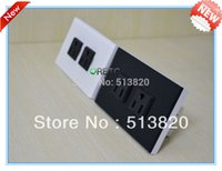 Wholesale Dropshipping US Standard High Quality Glass Panel White black Multi purpose power plug wall socket