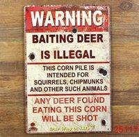 Wholesale Warning Tin Sign Bar pub home Wall Painting Decor Retro Metal Art Poster