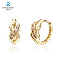 alphabet code - 21 Carat Sterling Silver Jewelry With K Gold Plating High Quality Cubic Zircon Stones For Gift The Code is E