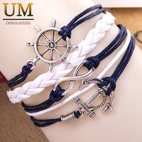 anchor chain types - Hot Fashion Handmade Silver Love Bracelets For Women Anchors Owl Rudder Horse Types Christmas Gift