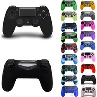 Wholesale Multi Color Soft Silicone Rubber Gel Skin Non slip Protective Case Cover for SONY PlayStation P4 PS4 Controller