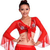 bellydance bra - 2016 New Belly Dance Top colors Embroidery Bellydance Bra Dance Wear Coat Sexy Top For Dancing