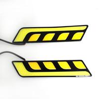 Wholesale Car day line lamp waterproof high power L type font general Lens LED daytime running lightsn