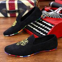 Wholesale 2015 Fashion Mens Flats Velvet Slippers Men Loafers Mens Velvet Shoes Brand Men Dress Shoes Casual Flat Shoes Men Size