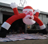 Wholesale Most Popular Outdoor Giant Inflatable Christmas Arch with Santa for Christmas M