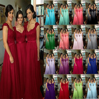 hot robe - Hot Cheap Elegant Beach Sweetheart Floor Length Crystal Long Lace Bridesmaid Dresses Wedding Party Gown robe demoiselle