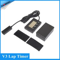 Wholesale and retail Black V3 Lap Timer Recorder Set of Receiver Beacon Infrared Ultrared Transmitter Stopwatch for motorcycles bicycles