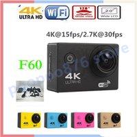 Wholesale Action camera F60 F60R Allwinner V3 K fps WiFi quot D pro Helmet Cam underwater go waterproof Sport camera