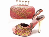 africa designs - Classic design africa woman party High Heels and bag hot sale Italian shoes and bag set price JA10