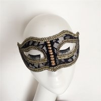 act dance club - Couples dance club fashion party mask Halloween mask men act out stage