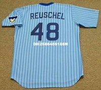 Wholesale RICK REUSCHEL Chicago Cubs Majestic Cooperstown Throwback Baseball Jersey