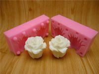 silicone soap molds - 3D rose fondant cake molds silicone molds chocolate soap wax like mold