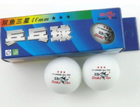 Wholesale Balls Double Fish MM Olympic Table Tennis white Ping Pong ball