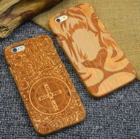 apple wood blanks - High End Luxury Custom Real Wood Mobile Phone Cover Case for iPhone s Bamboo Blank Cell Phone Case