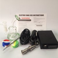 Wholesale Portable mini enail temperature controller box g9 enail with mm mm mm coil heater with water pipe glass bong dab rigs