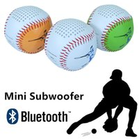 baseball audio - Portable Baseball Bluetooth Speakers Music Angel Subwoofer Mini Wireless Usb Laptop Speakers for Computers