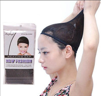 Wholesale 20 NEW Fishnet Wig Cap Stretchable Elastic Hair Net Snood Wig Cap hair net wig net