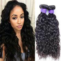Cabelo Curly brasileira Water Wave 3 Bundles Barato não transformados Raw brasileira Cabelo Curly Weave Extensões de cabelo humano Sem Abrigo tramas do cabelo