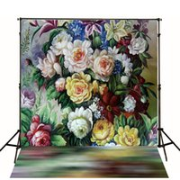 abstractionism painting - Digital Printing photography Backdrop Abstractionism Painting Backdrops Retro Flowers Photo Studio Background For Children