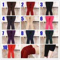 al por mayor polainas de colores-10 Colores Mujeres Leggings Belleza Señora Un color Leggings Para Mujeres Entrenamiento Capri Leggings Yoga Pantalones Yoga Leggings
