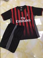 Wholesale 2015 Soccer jerseys Italy Club AC Milan jerseys B Quality Without Brand logo GSM