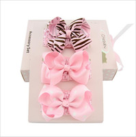 baby gift box set - Christmas Gift Box Bowknot Boutique Hair Bows Hot Korean Hair Accessories Set Baby Tiaras Lace Flower Clips For Baby Girls Barrettes