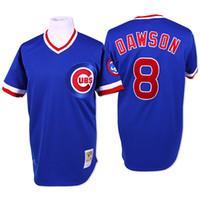 andre dawson baseball - Throwback Chicago Cubs Andre Dawson Navy Blue Cream Retro MLB Baseball Jerseys From China