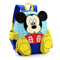 Wholesale 2016 Hot Cartoon mickey children backpacks kids kindergarten backpack kid school bags Satchel for boys and girls