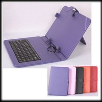 Wholesale by DHL or EMS pieces inch USB keyboard leather case with Russian for all quot tablet pc Original keyboard case