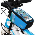 Wholesale Bike front Bag Mountain Bicycle Cycling Bicycle Frame Pannier Bag and Front Tube Cell Phone Bag with Mobile Phone Pouch Inch for Iphone